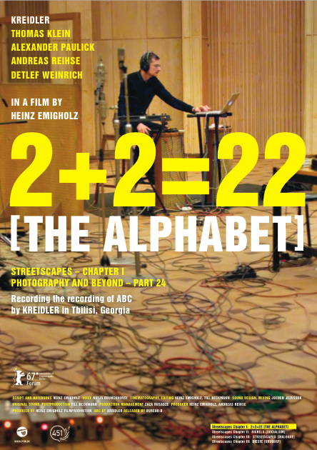 KREIDLER EMIGHOLZ 2+2=22 [THE ALPHABET] 2017