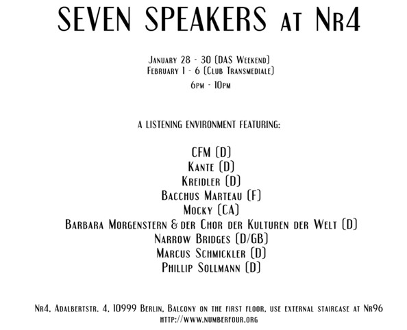 Seven Speakers Berlin